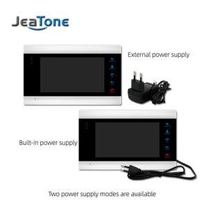 Image 4 - Jeatone Wired וידאו דלת טלפון אינטרקום לבית 7 אינץ HD צג 1200TVL פעמון מצלמה תמיכת CCTV מצלמה זיהוי תנועה