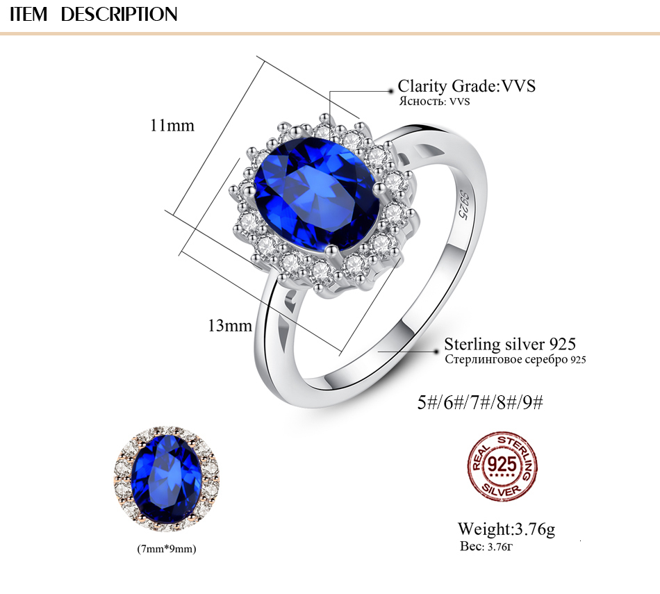 Hed902abd82264f9ea5508c4129ac06cbY CZCITY Princess Diana William Kate Gemstone Rings Sapphire Blue Wedding Engagement 925 Sterling Silver Finger Ring for Women