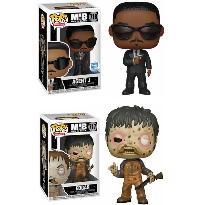 Funko Pop Men In Black Agent J EDGAR MIB Vinyl Pvc Doll Action Figure Model Collection Toys For Children Birthday Gifts