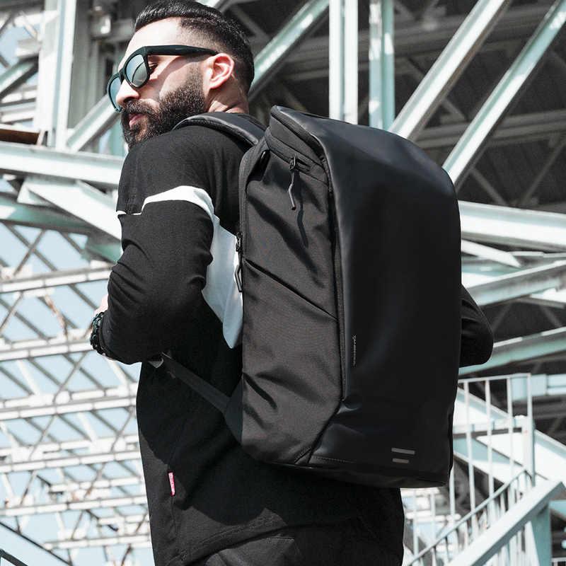 TANGCOOL yeni varış erkekler moda sırt çantası 15.6 'laptop sırt çantası su geçirmez yüksek kapasiteli seyahat sırt çantası günlük okul sırt çantası