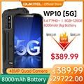 OUKITEL WP10 5G прочный смартфон глобальная Версия 8 ГБ + 128 ГБ 8000 мАч Мобильный телефон 6,67