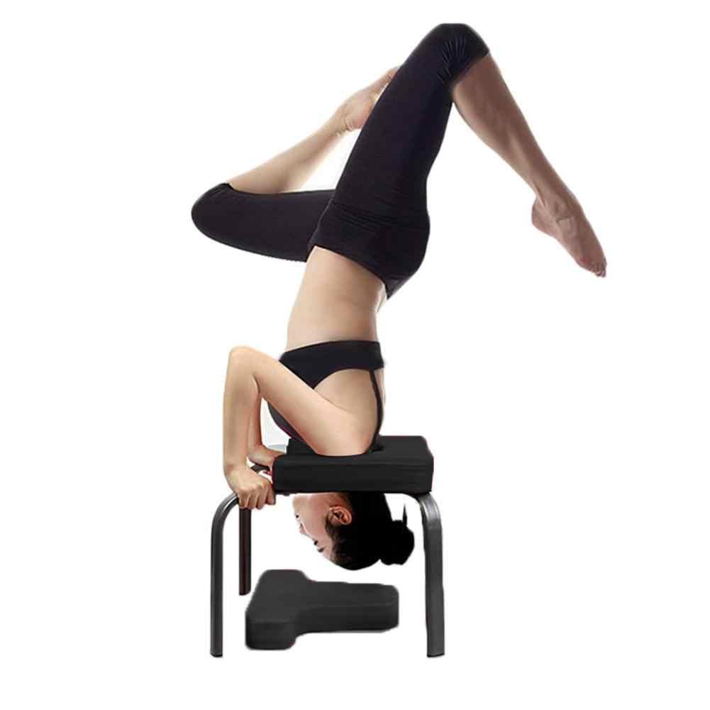 Joga krzesło inwersji ławki Headstand stołek) posiada kilka prywatnych ośrodków szpitalnych ćwiczenia Fitness stołek domowy do góry nogami treningu urządzenie materiały do jogi 4
