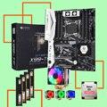 HUANANZHI X99-TF LGA2011-3 материнская плата комплект с двойным M.2 NVMe SSD слотом M.2 WIFI слотом CPU 2680 V3 RAM 64G (4*16G) DDR4 2400