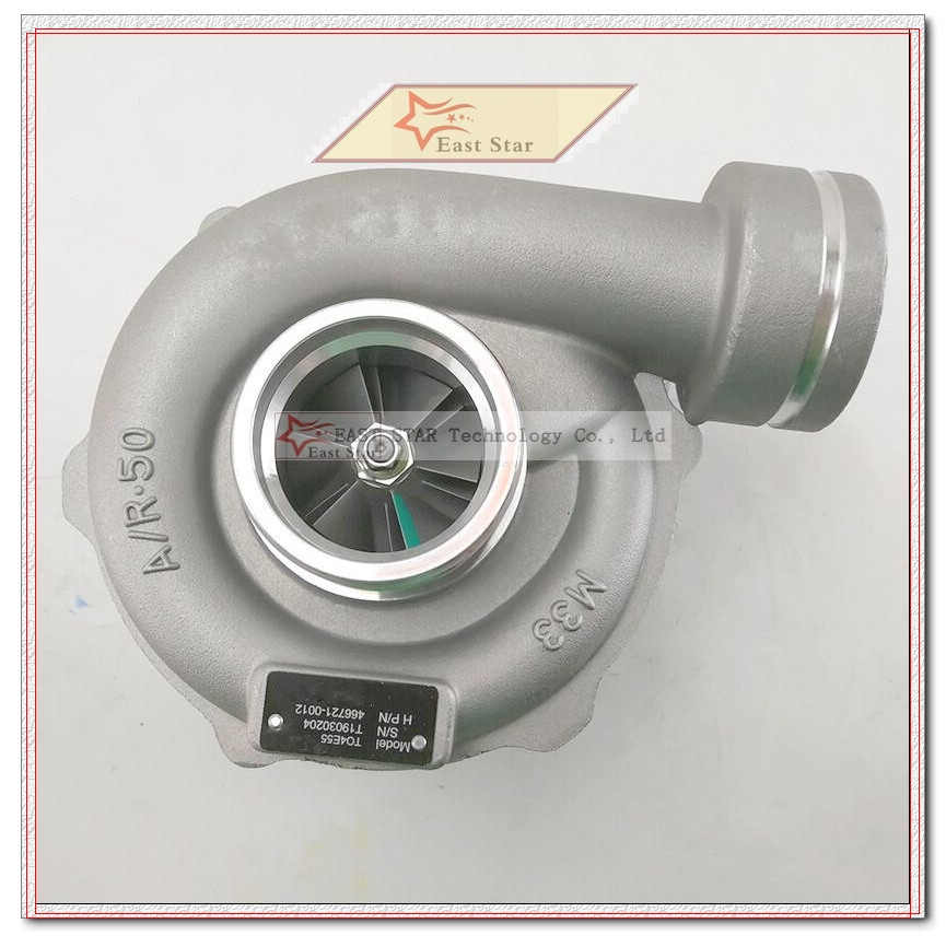 Turbo TO4E55 466721 0012466721-5012S 466721-0012 4667210012 65091007192 Turbocharger For Daewoo BUS D1146Ti I6CYL 204HP 8.1L