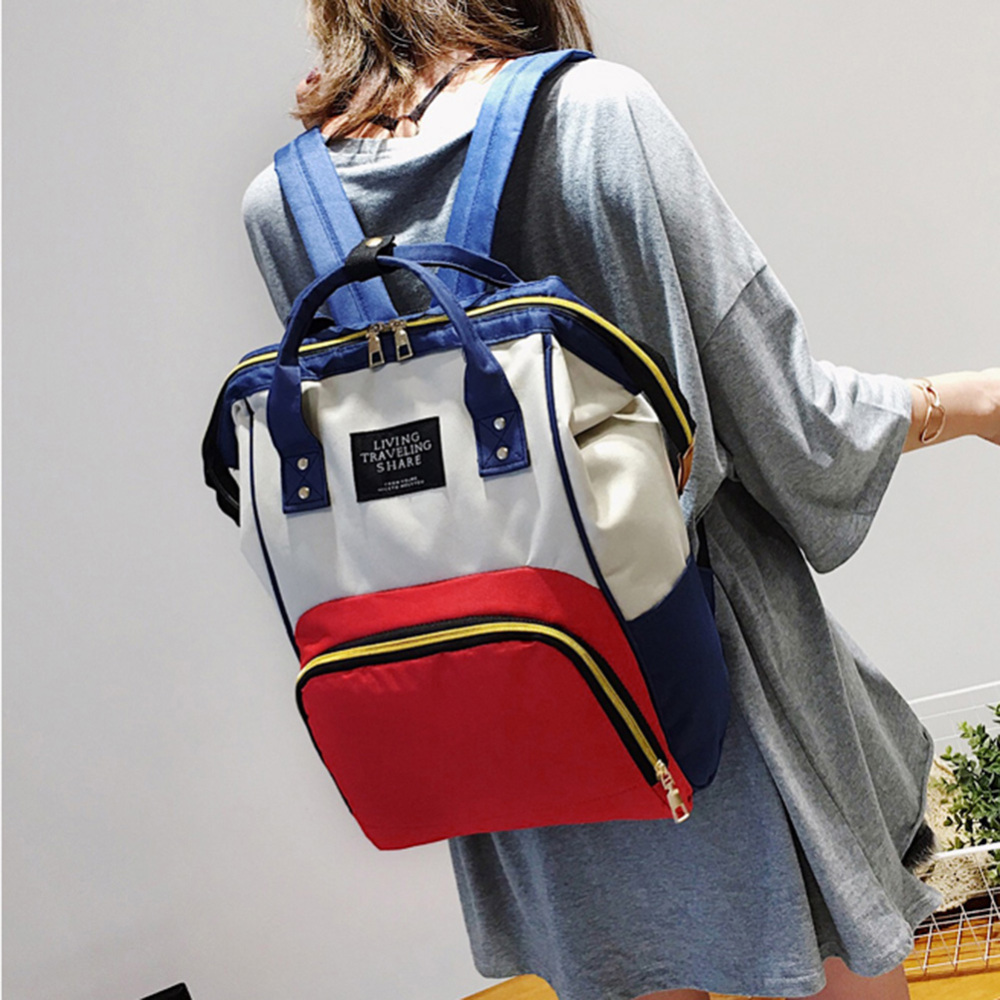 Mummy Maternity Nappy Bag Mother Large Capacity Travel Nappy Backpack Multi-function Anti-loss Zipper Baby Nursing Bags N21