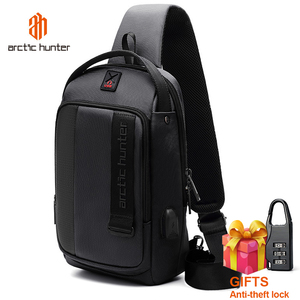 Image 1 - ARCTIC HUNTER 2019 USB Waterproof Men Chest Bag Male Leisure Messenger Shoulder Bag Crossbody Bolsas For Teenagers Travel