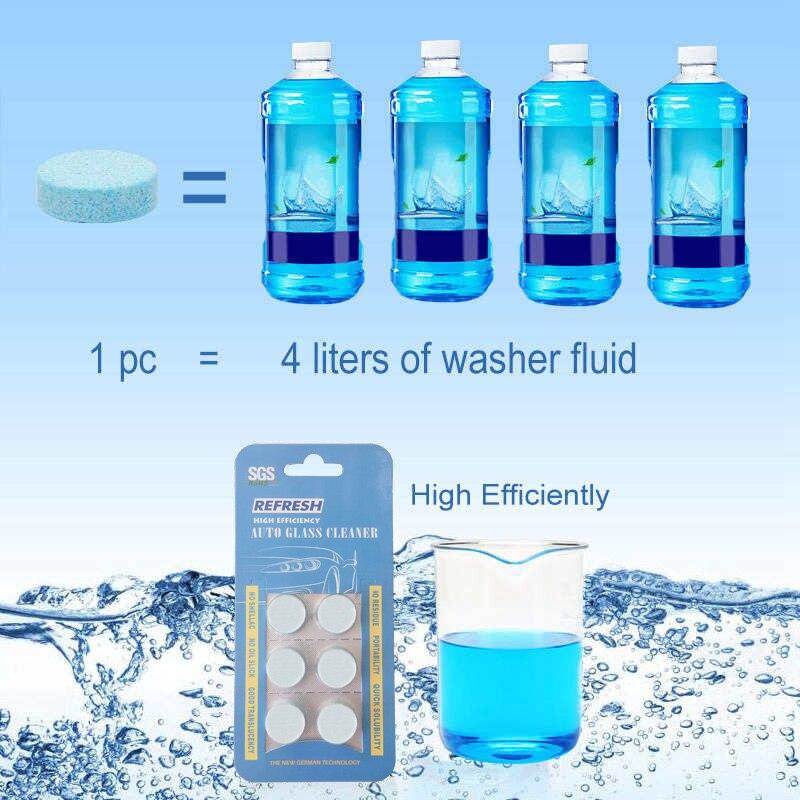 Твердые шайба концентрат составляем омывателя ветрового стекла жидкости Экран мыть жидкость для мытья автомобиля Твердые пылесос(6 шт./упак