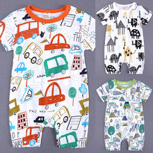 Cotton Baby Bodysuits Unisex Infant Jumpsuit Fashion Baby Boys Girls Clothes Long Sleeve Newborn Baby Clothing Set D30