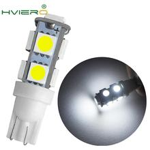 White T10 W5W 5050 SMD 9Led Auto Led 194 168 192 W5W DC 12V Auto Mobile Bulbs Parking Lamp Wedge Interior Lights Tail Light w5w 10 led 7020 smd car t10 led 194 168 wedge replacement reverse instrument panel lamp white blue bulbs for clearance lights