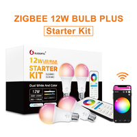 Gledopto White and Color E27 12W LED smart bulb 2 Pack Zigbee compatible 3.0 gateway  voice activated with Alexa  6 zone remote|LED Bulbs & Tubes| |  -