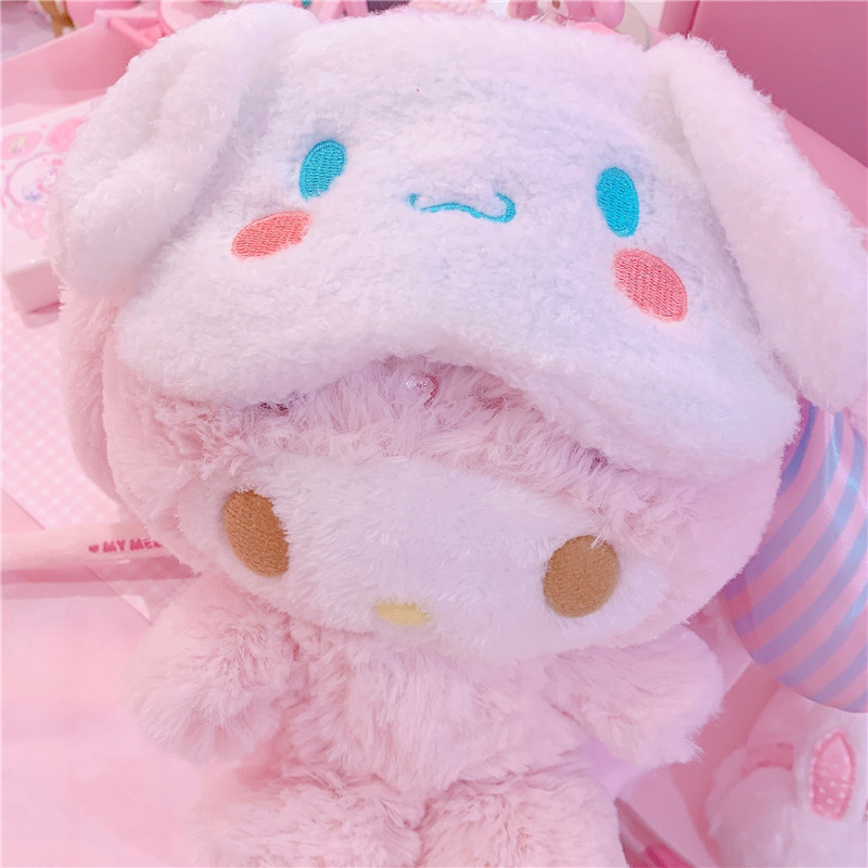 1PC Lovely Party Cinnamoroll Eye Mask Cartoon Sleeping Mask Plush Cover Eyeshade Relax Mask Suitable For Travel Home Gifts