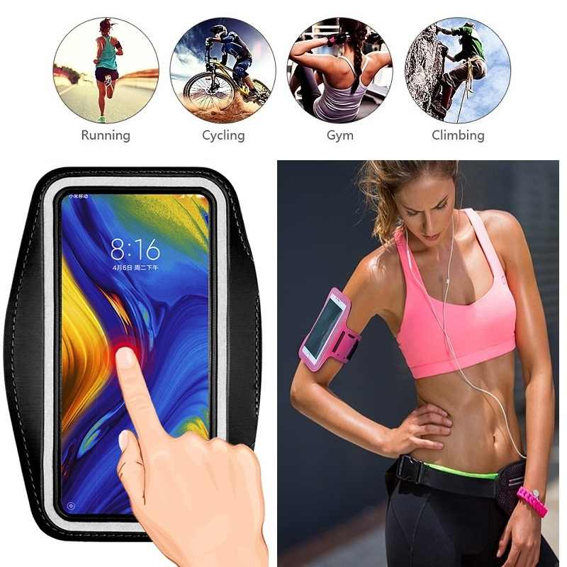 Mobiele Telefoon Bag Case Voor Running Armband Houder Voor Xiaomi Pocophone F1 Mi A3 A2 A1 9T 9 Pro 8 Se Redmi Note 5 6 7 8 Pro Case