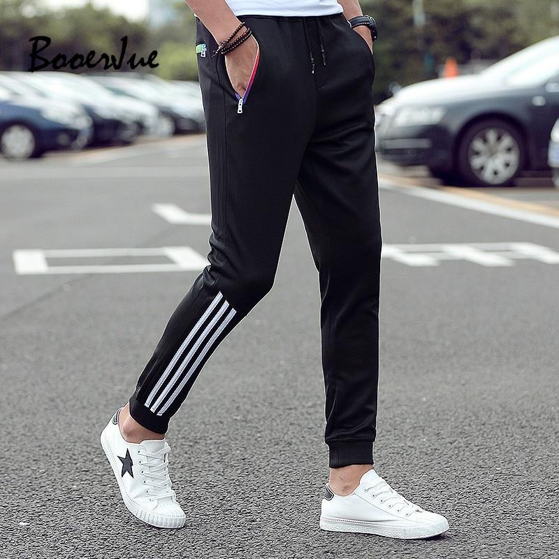 Men's Casual Pants 2020 Winter Trousers Men Pants Slim Fit Sweatpants Cotton Jogger Striped Bodybuilding Gyms Pants Sportswear