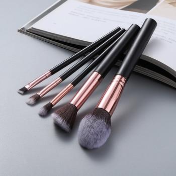 FLD 5pcs Kabuki Makeup Brushes Set Foundation Powder Small Eye Shadow Eyebrow Blending Concealer Cosmetic Brush Kit Professional 4