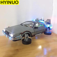1/18 boutique version back to the future second generation simulation Diecast alloy car model With light toy vehicle Collection