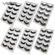 YSDO 5 pairs 3D mink eyelashes dramatic natural hair false eyelash wispy volume thick faux cilios fluffy lashes