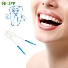 HILIFE Weichen Bürste Massage Zahnfleisch Zahnfleisch Interdentalbürste 40 teile/paket Zahnseide Zähne Stick Zahnstocher Mundpflege Zahnstocher