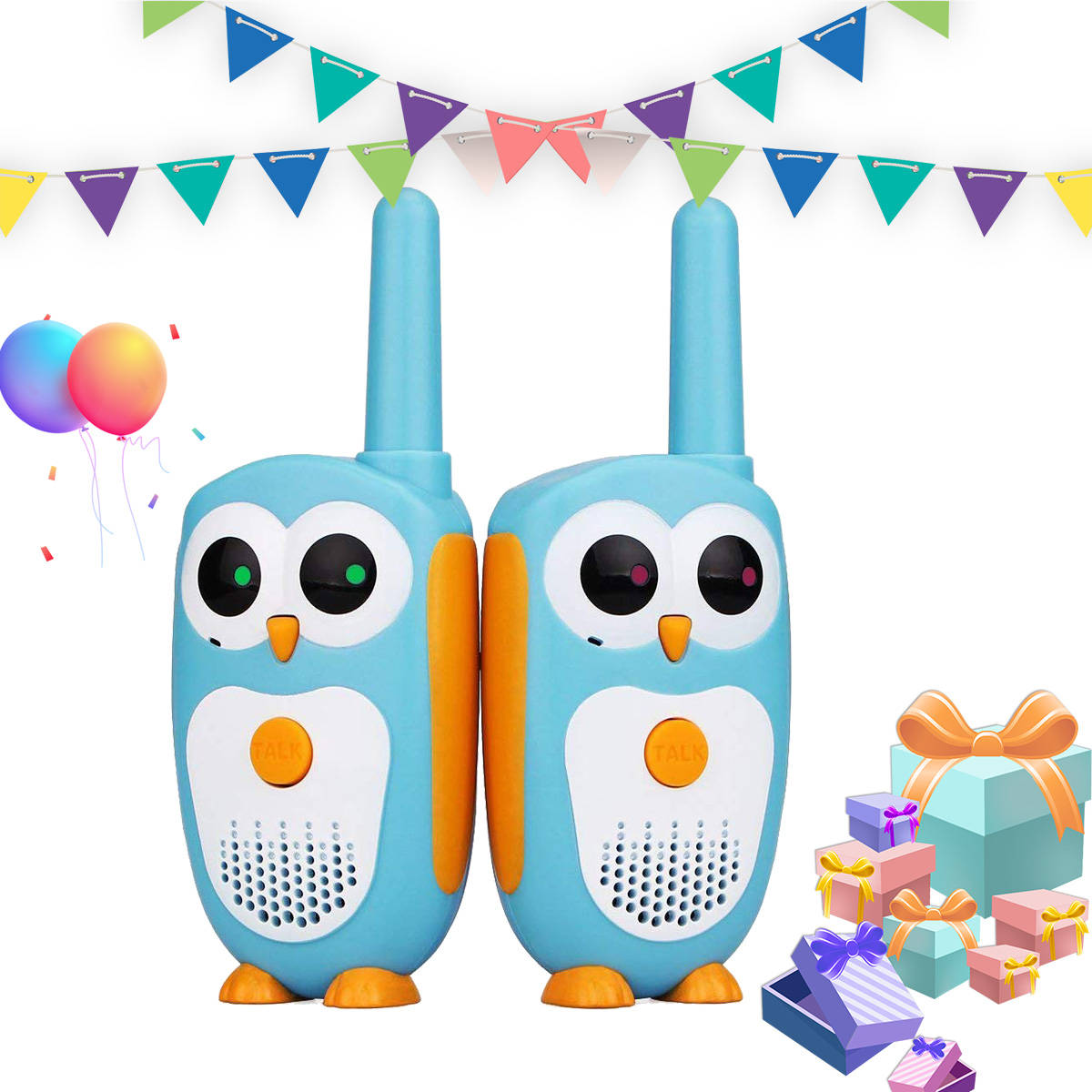 Walky Radio Walkie-Talkie Retevis Birthday Children Gift RT30 2pcs Owl-Design Cartoon