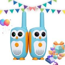 Retevis rt30 walkie talkie crianças 2 pçs desenho da coruja das crianças rádio 0.5w walky talky criança aniversário presente de ano novo