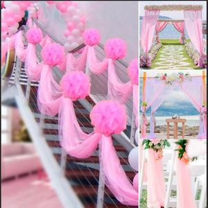 Image 4 - FENGRISE 5M 10M Bride Party Decor Wedding Organza Tulle Fabric Sheer Swag Backdrop Curtain Rustic Wedding Decoration Party Event