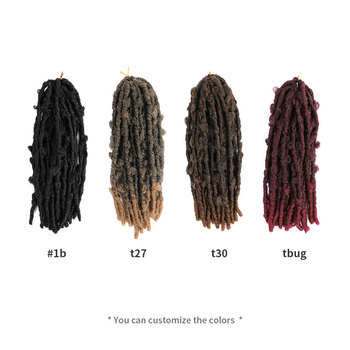 Butterfly Faux Locs Crochet Goddess Braids Synthetic Hair Extensions 20 Strands/pack 14inch Natural Black Braiding Hair BY195 4