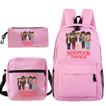 Backpack Men Mochila Pencil-Case Bookbag Stranger-Things School-Bags Shoulder Teenage Girls