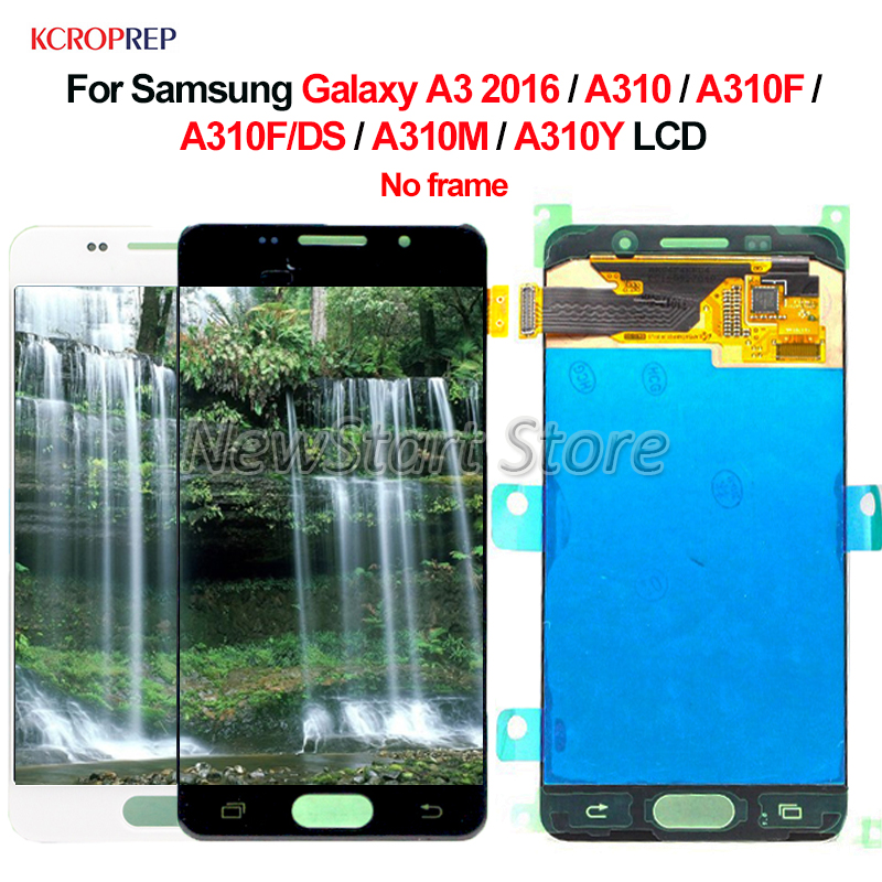 For <font><b>Samsung</b></font> Galaxy A3 2016 <font><b>A310</b></font> A310F A310F/DS A310M A310Y <font><b>LCD</b></font> Display Touch Screen Digitizer Assembly Replacement Accessory image
