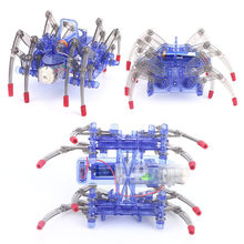 New Kids Electiric Toy Electric Spider Robot Kit DIY Educational Intelligence Development Assembled Kids Toy Gifts Hot Selling(China)
