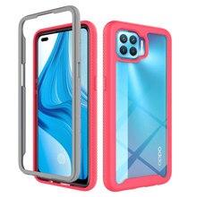Híbrido capa de proteção completa para oppo a93 cristal claro à prova de choque caso duro para oppo f17 pro caso caso caso