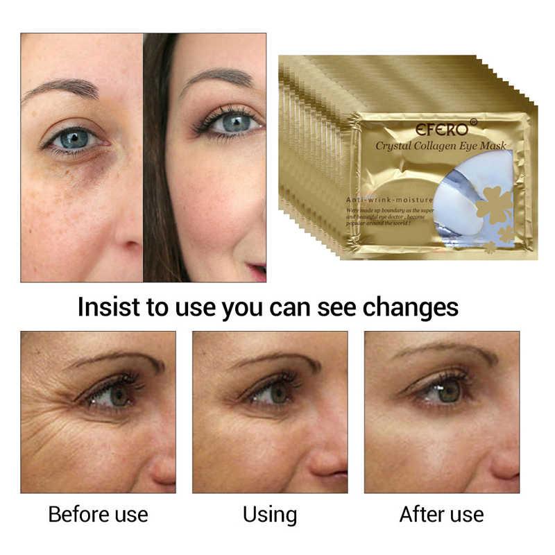 1pair Gold Crystal Collageen Eye Masker voor Acne Ogen Zakken Verwijderen Zwarte Anti-Aging Rimpel Eye Patches koreaanse Cosmetica TSLM2