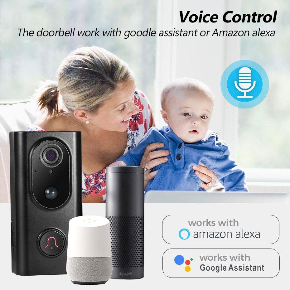 Купить с кэшбэком FUERS 960P WIFI Doorbell Camera Smart Wireless Video Intercom Camera Doorbell IP Doorbell Camera Two-Way Audio Cloud Storage