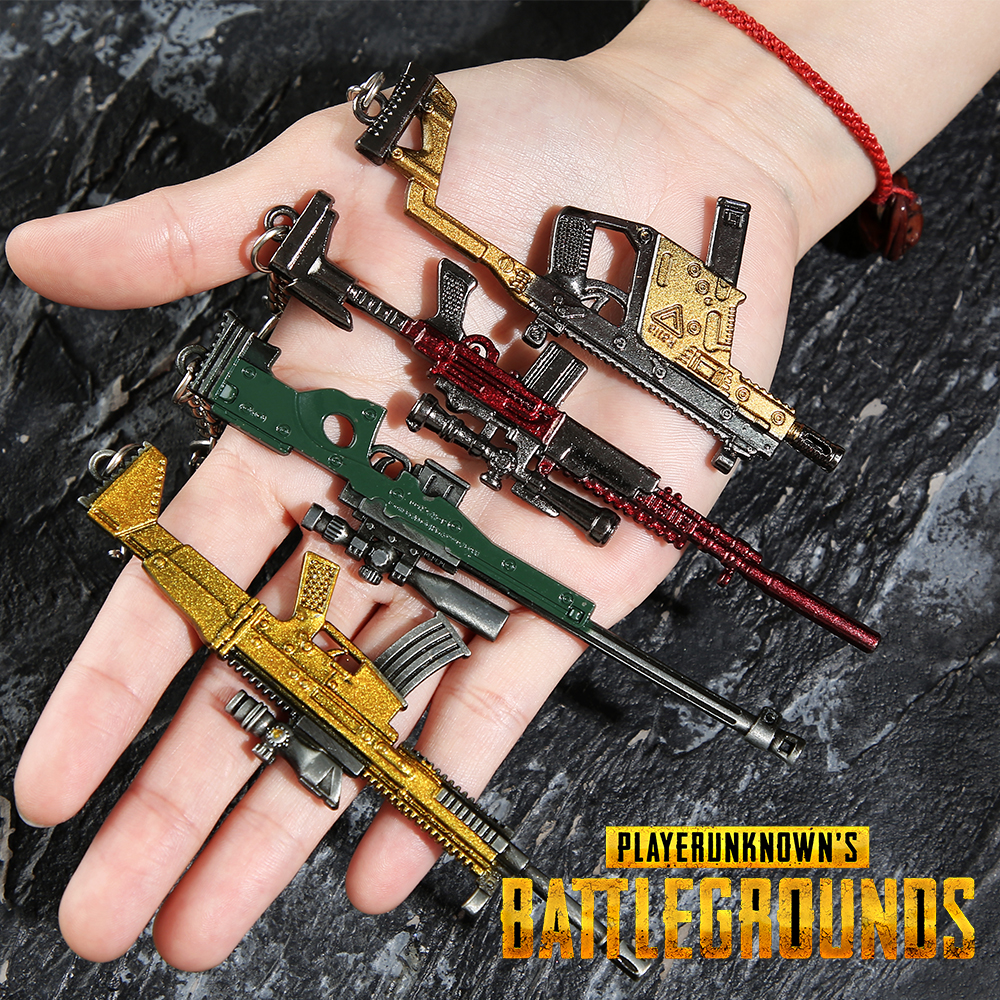 Vicney Popular PUBG Game Player Key Chain Jedi Survival Gun For Men Cool Key Ring Of Boyfriend Trendy Gift AK47 CSGO Keychain