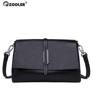 ZOOLER 100% Cow skin Leather Fashion Shoulder Bags High Quality Solid Crossbody Bag Women Bags Designer Day Clutch Girls #WG229