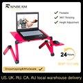 Регулируемый алюминиевый стол для ноутбука эргономичные диванные лоток для ноутбука стол из поликарбоната подставка для ноутбука настоль...
