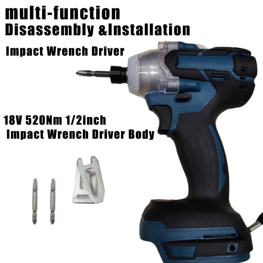 Power Electric Impact Wrench Driver Repairing Loosening Bolts Nuts For Makita DTW285Z Cordless Wrench