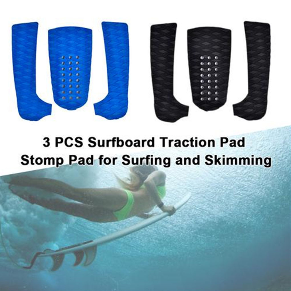 3pcs/set  Surfboard Traction Pads Surf Pads EVA Foam Deck Pad Grip Skimboard Adhesive Grips All Boards  3 Strips