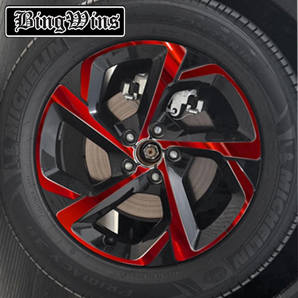 Car Styling For Citroen C5 Aircross Wheel Hub Stickers  Carbon Fiber Tire Hub Stickers