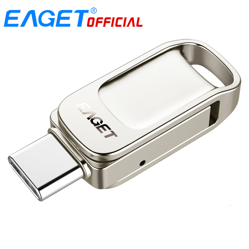 Eaget CU31 OTG USB3.1 Flash Drive Mini Flash Disk Type-C High Speed Pendrive 16G 32G 64G 128G Type-C Interface USB Flash Drives