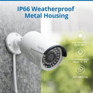 Image 3 - SANNCE système de sécurité, Kit de vidéosurveillance POE 5M 8CH, caméra IP IP étanche pour lextérieur, 2mp, avec microphone, enregistrement Audio, Kit de vidéosurveillance