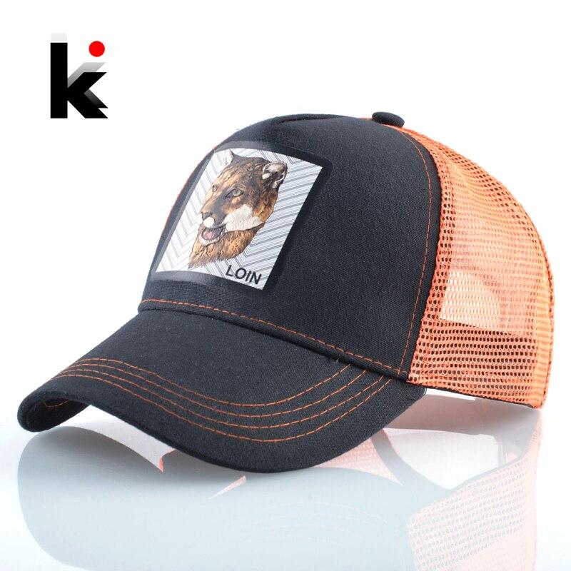 New Fashion Baseball Cap Summer Breathable Mesh Caps Women Streetwear Hip Hop Baseball Hats Simulation Patch Snapback Bone Hat