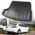 Автомобильный грузовой лайнер загрузочный лоток Задняя Крышка багажника матовый коврик напольный коврик для Mazda 3 Sedan модели 2014 2015 2016 2017 2018