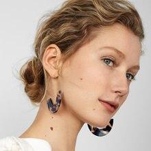 1Set orecchini di acido acetico acrilico multicolore stampa leopardo moda per donna ragazza orecchini pendenti geometrici alla moda orecchini Cc