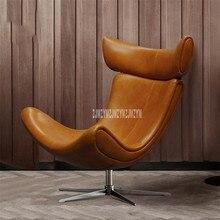 Модный скандинавский Балконный взрослый ленивый шезлонг кожаный ленивый стул креативный современный простой домашний Досуг одноместный диван стул