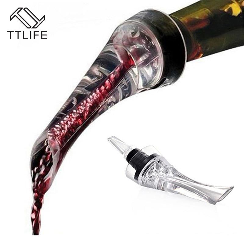 TTLIFE vin rouge aérateur verseur bec décanteur vin aérateur rapide aération outil de coulée pompe Portable filtre barre accessoires