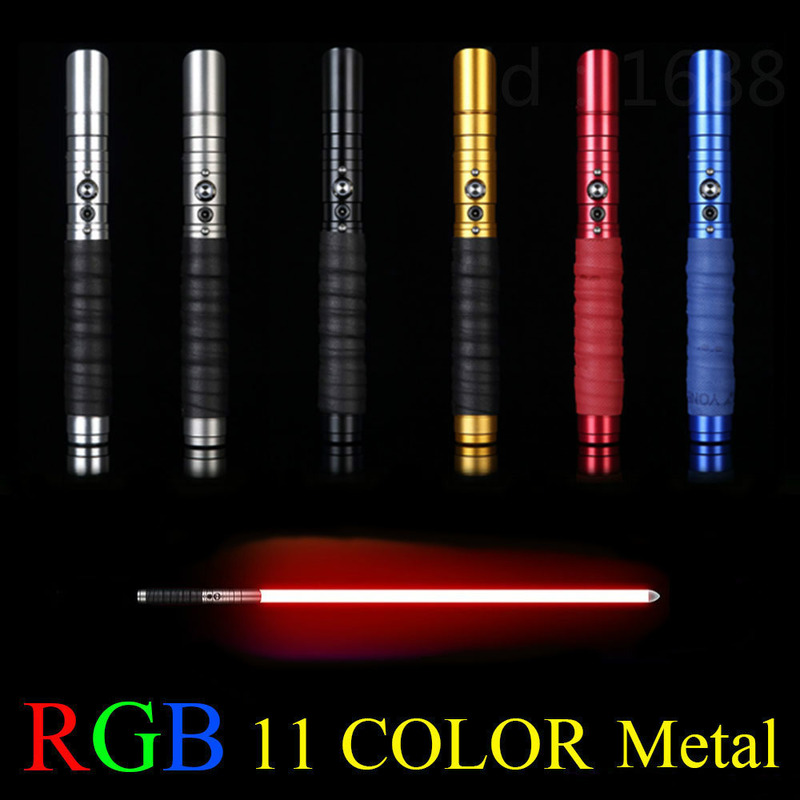 RGB Lightsaber Jedi Sith Luke 11 Colored Metal Sword Laser Boys And Girls Star Wars Force Color Changing Sound Toy Lightsaber