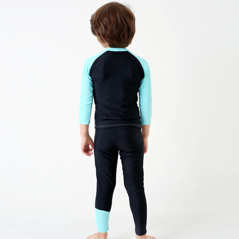 KID'S Swimwear BOY'S Long Sleeve Trousers Split Type Sports Bathing Suit Children Profession Jellyfish Clothing Wetsuit Diving S