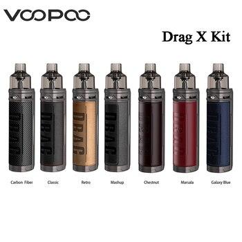 Original VOOPOO Drag X Mod Pod Kit 4.5ml Cartridge 80W Power By Single 18650 Battery E-Cigarette Vaporizer MTL Pod Kit VS Drag S
