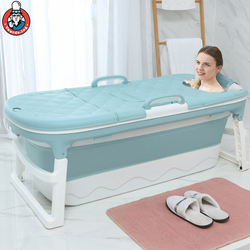 138cm Large Home Fold Bathtub Adult Spa Sauna Thicken Children's Folding Tub Massage Bath Barrel Steaming Dual-use Baby Tub