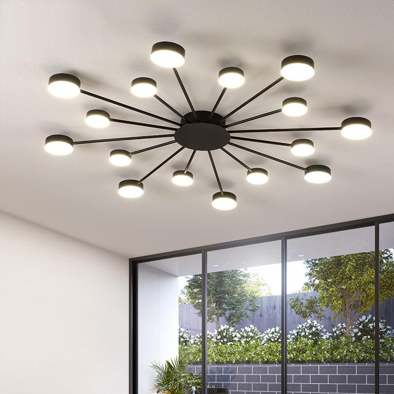 Novo led lustre para sala de estar quarto casa lustre por sala moderna conduziu a lâmpada do teto lustre iluminação - 2