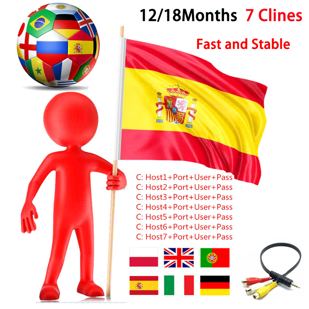 Stable Egygold DVB-S2 7 Clines For GTmedia V8 Nova Satellite Receiver Cccam Clines India Spain Poland Uk For Europe TV-Receiver